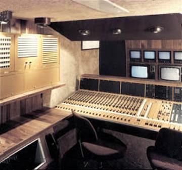 Norwegian Radio TV OB multi-track recording vehicle interior